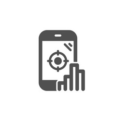 Seo phone icon search engine optimization sign vector