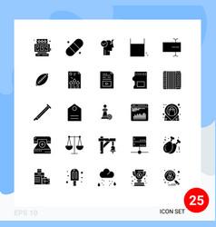 Set 25 modern ui icons symbols signs for afl vector