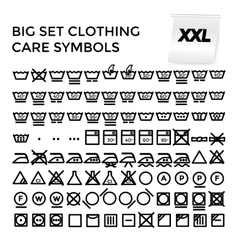 Set Clothing Care Symbols vector image