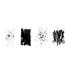 set of artistic black grunge backgrounds vector image