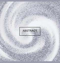 silver confetti glitters on creamy swirling vector image