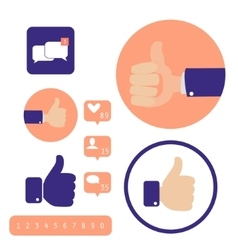 Social media Hand signs Good concept vector image