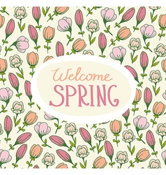 Spring card with flowers vector image