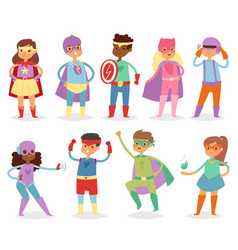 Superhero kids super hero child or kid in vector