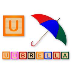 U is for umbrella vector