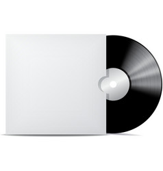 Vinyl record in blank cover envelope vector