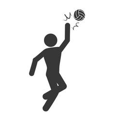 Voleyball player pictogram vector