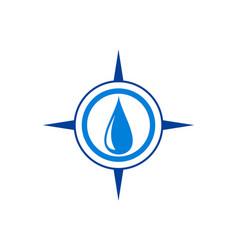water compass concept logo icon vector image