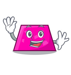waving trapezoid character cartoon style vector image