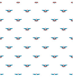 wings veterans day pattern seamless vector image