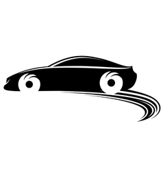 Fast moving car with tire shapes vector image