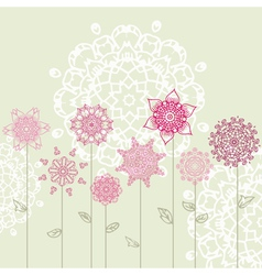 floral design with arabesques vector image