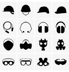 Head protection equipment vector image vector image