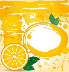 juice fruit drops liquid orange element design vector image