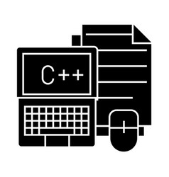 programming - coding - notebook mouse docs icon vector image