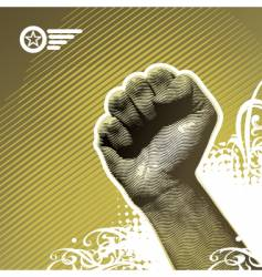 protest hand vector image vector image