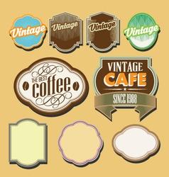 vintage retro label set vector image vector image