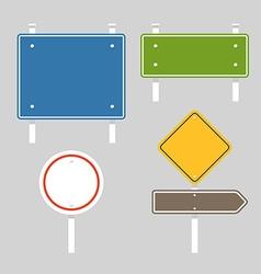 Blank metal information boards set Flat design vector image vector image