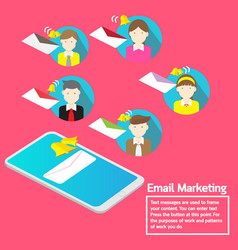 business team concept smartphone notification vector image vector image