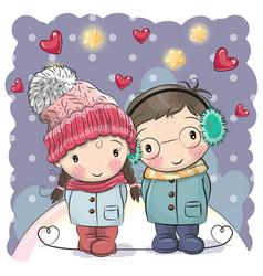 cute winter vector image vector image