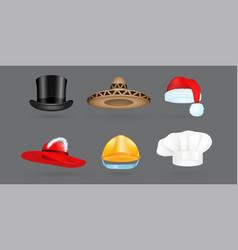 different kind of fashion hat modern elegance cap vector image