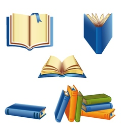 Knowledge book set vector image