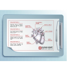 medical tool template vector image vector image