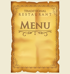 Menu for restaurant and cafe vector image vector image