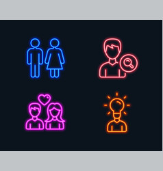 restroom search people and couple love icons vector image