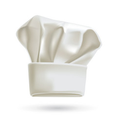 white chef hat photorealistic vector image