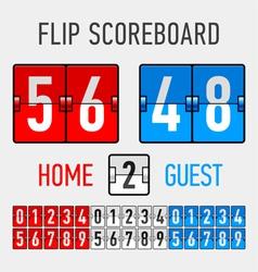 Flip Scoreboard vector image vector image