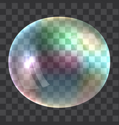 rainbow bubble concept background realistic style vector image vector image
