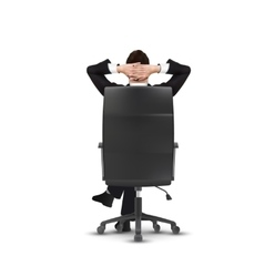 relaxed businessman isolated on white vector image vector image