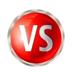 Versus button isolated vector image vector image