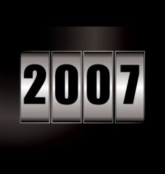 2007 date vector image vector image