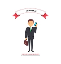 Businessman Speaking on a Phone vector image vector image