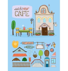 Cafe house vector image