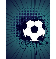 Soccer Ball on Rays Background4 vector image vector image