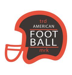 sport trd american football mrk helmet background vector image