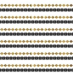Tribal geometric gold pattern vector image vector image