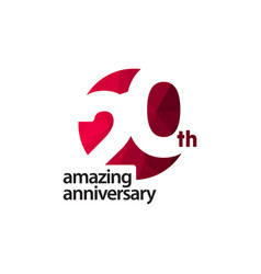 20 th amazing anniversary celebration template vector