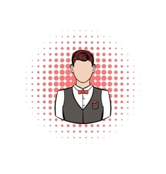 A man in white shirt black waistcoat vector