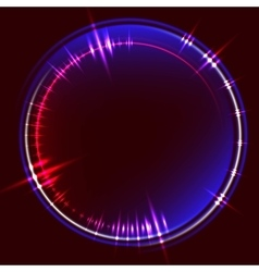 Abstract background with glowing circle frame vector image