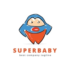 Abstract big super monster logo icon concept vector image