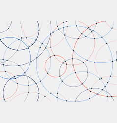 abstract blue and red circles lines round overlay vector image