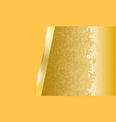 abstract gold metal background vector image