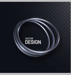 Abstract silver ring shape vector