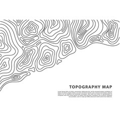 abstract topography map banner topographic vector image