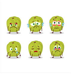 Amla cartoon in character with sad expression vector