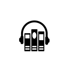 Audio library flat icon vector